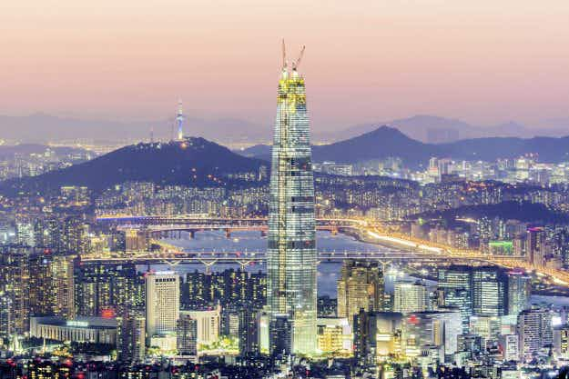 World's fifth-tallest skyscraper has opened in Seoul with a seven-star hotel and the world's fastest elevator