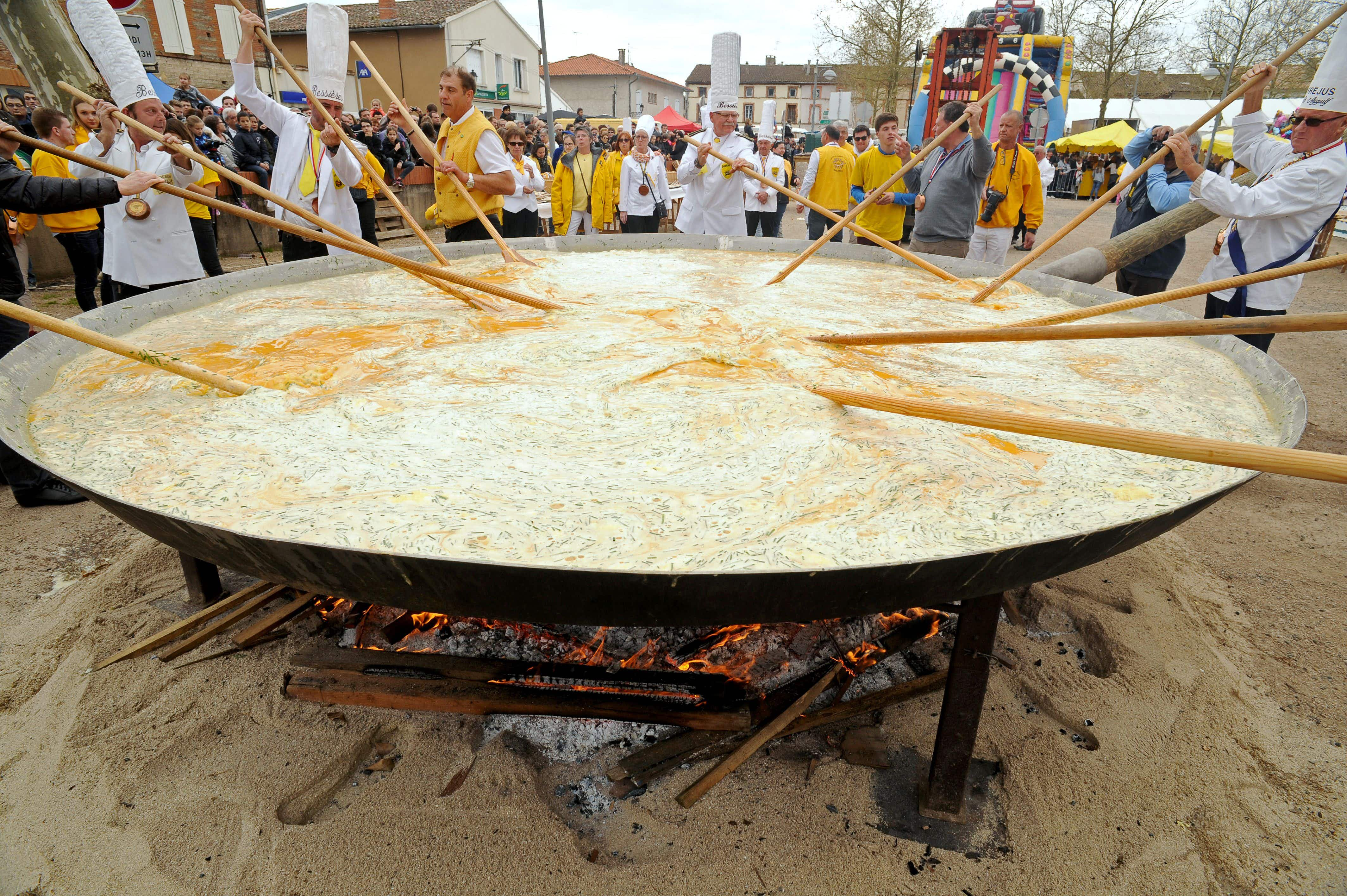 French village to make omelette with 15,000 eggs on Easter Monday