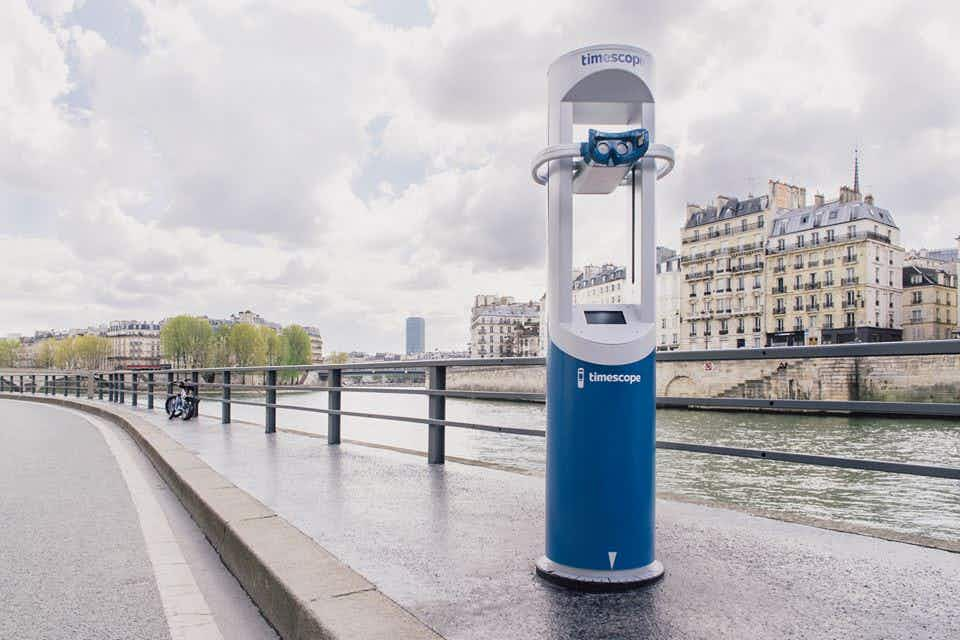 New virtual reality telescope by the Seine shows off medieval Paris