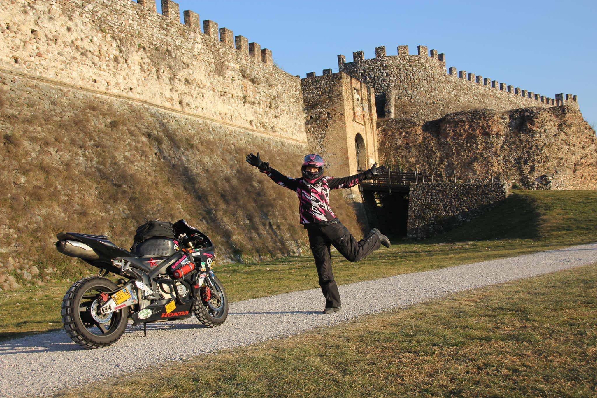 This woman has been exploring the world on her motorbike for two years