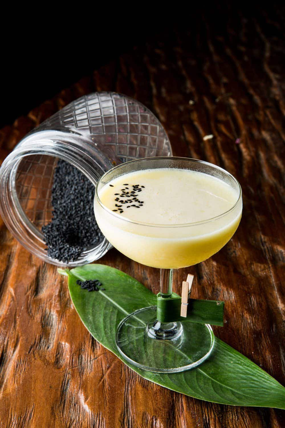 A Bangkok bartender has created a cocktail menu made from Thai food