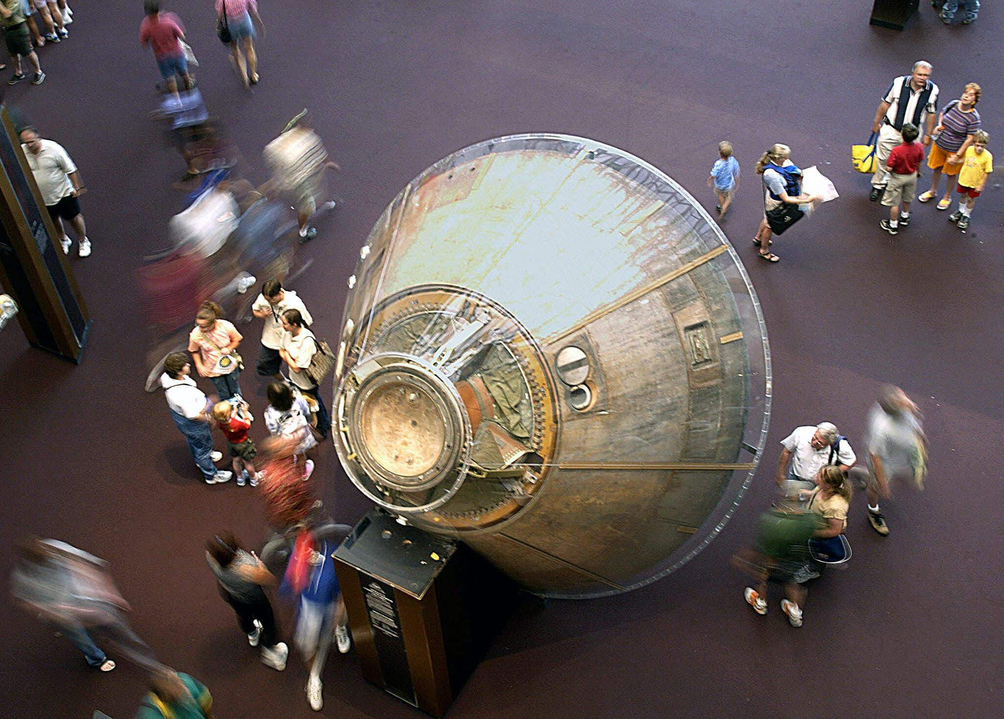 The Apollo 11 command module will take off on tour around the US for the next two years