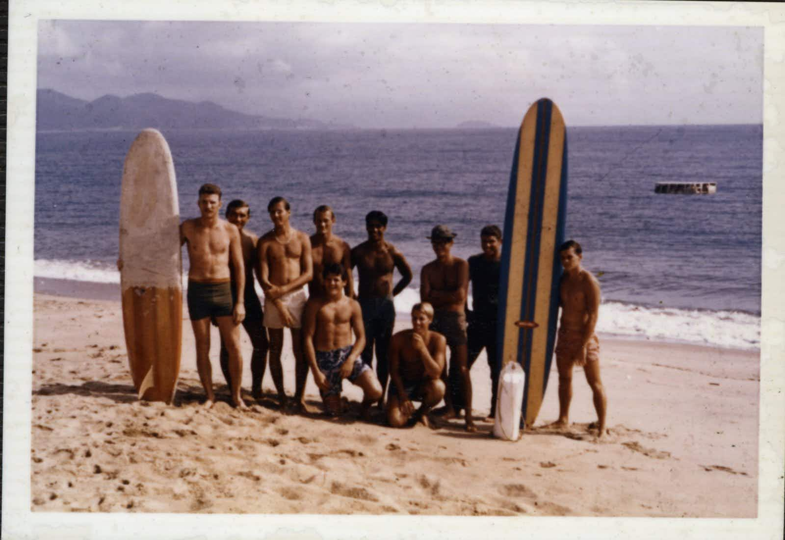Unseen images of US soldiers surfing in Vietnam go on display at California Surf Museum