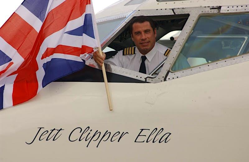 John Travolta in his Qantas Boeing 707. Image: Rune Hellestad/Corbis via Getty Images