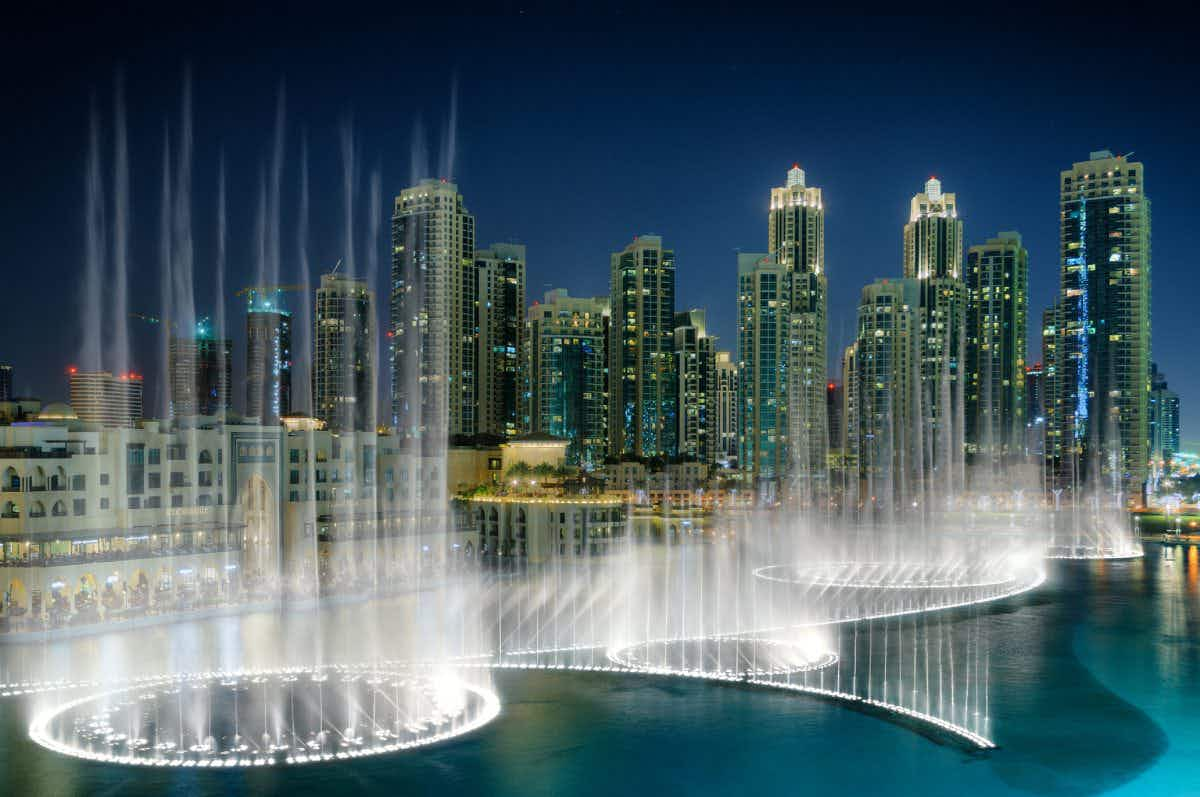 A new floating boardwalk has opened at the famous Dubai Fountain