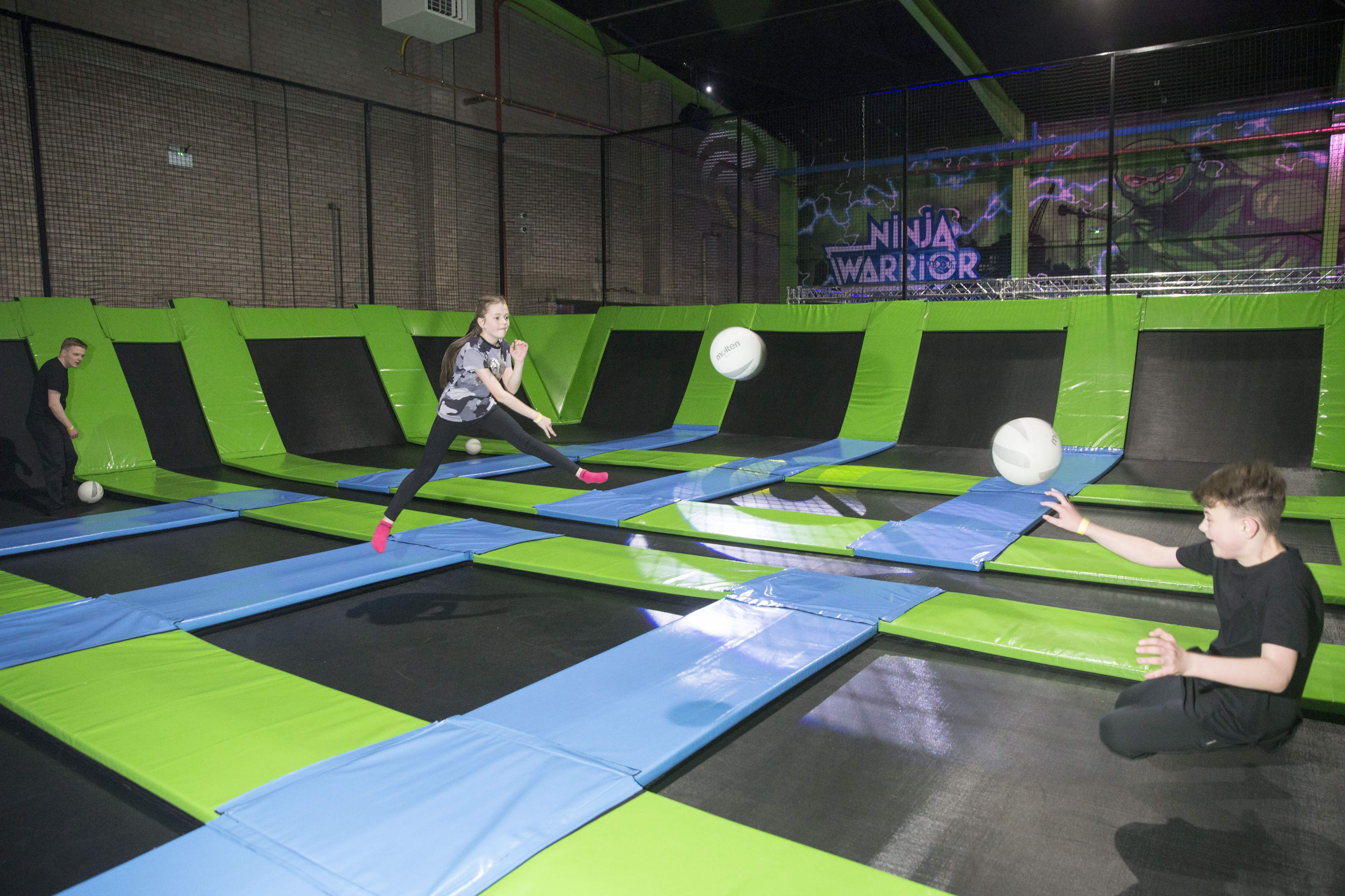 As the craze takes off across the globe, the world's biggest trampoline arena opens in Scotland