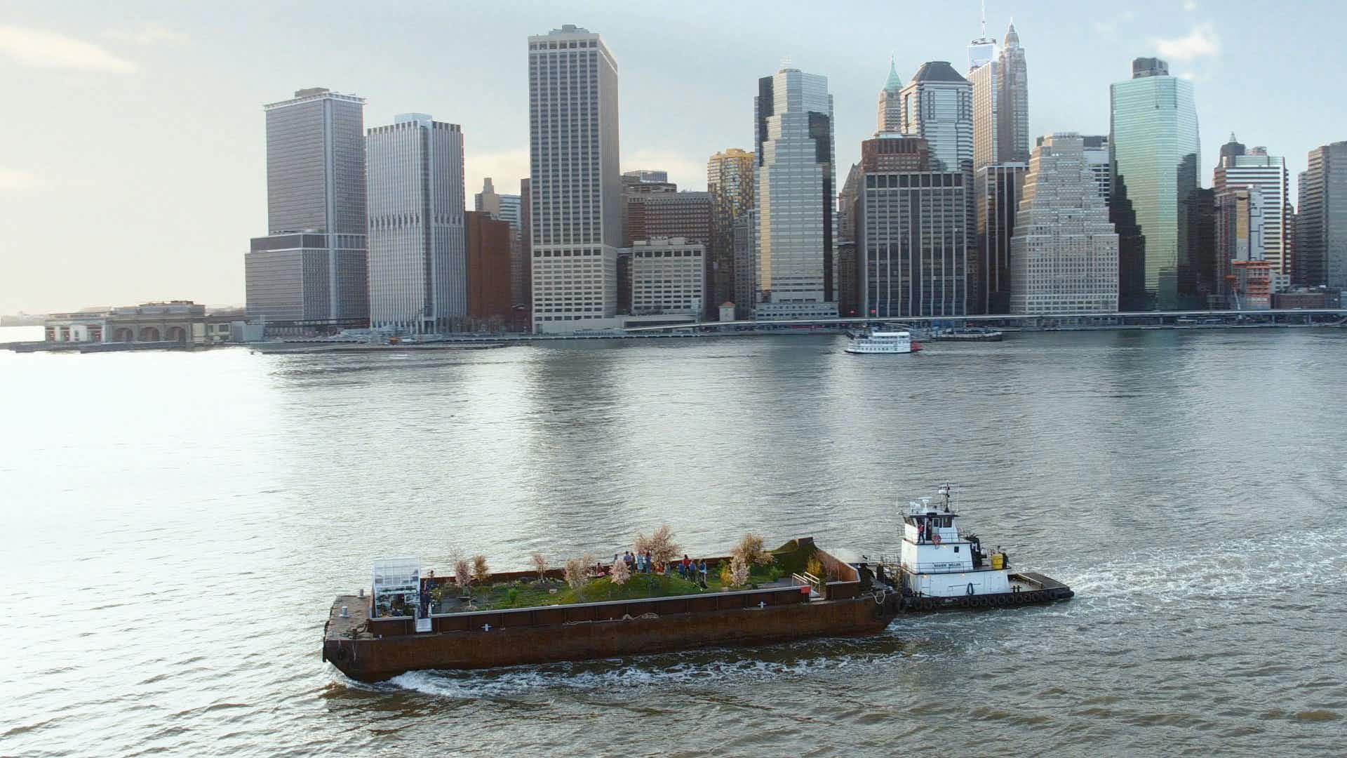 City dwellers can forage for berries, kale, and more as the Big Apple's floating forest returns