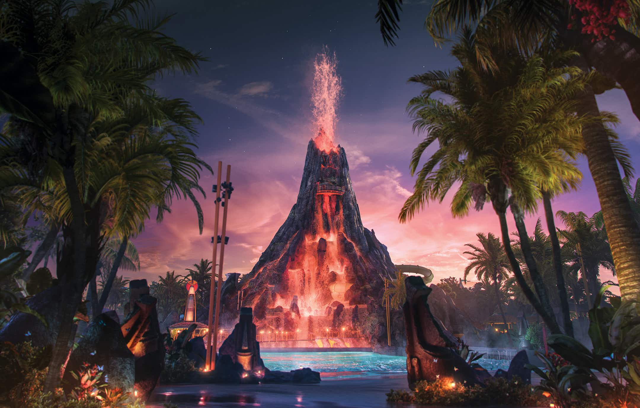 Universal Orlando's newly opened Volcano Bay allows guests to wait in line virtually