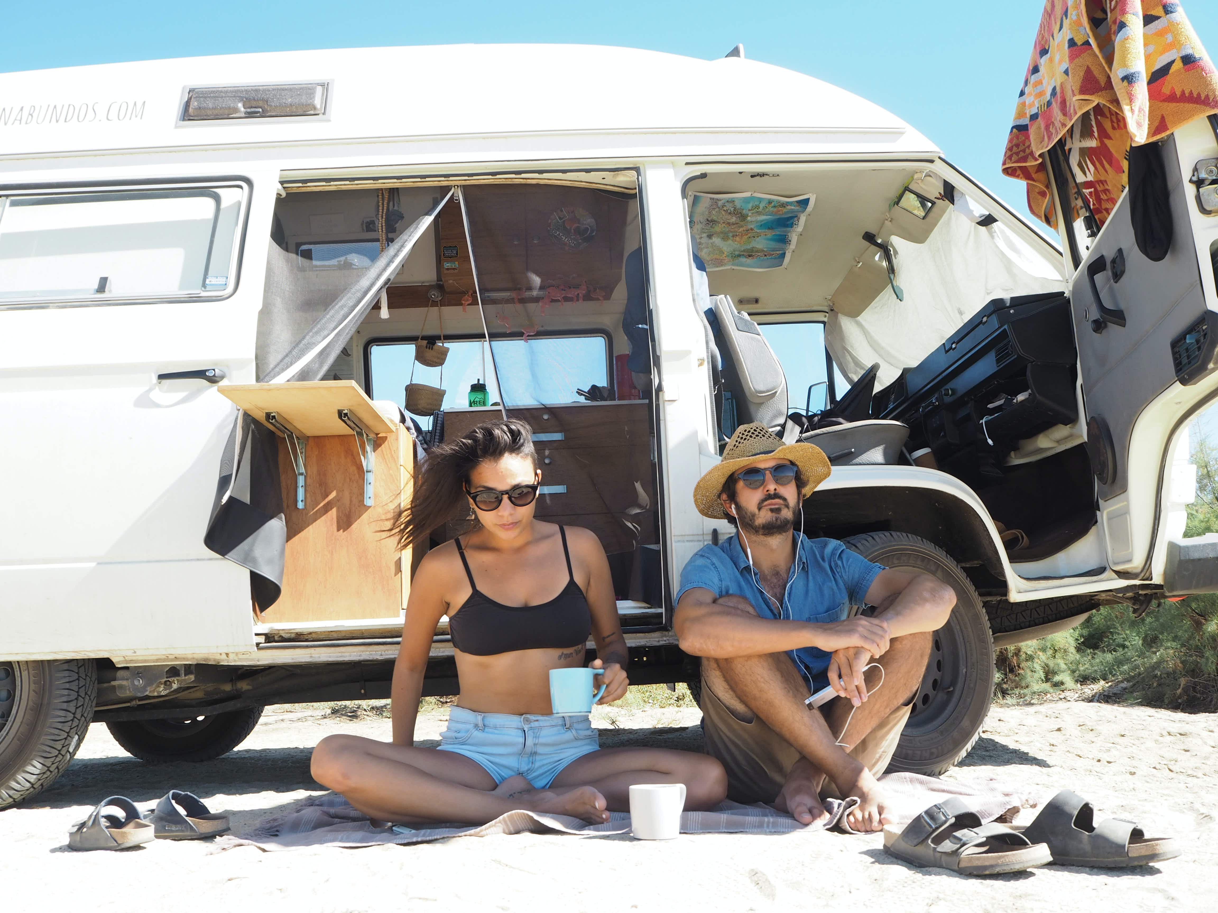 Meet the couple who quit their jobs to travel the world in a Volkswagen van
