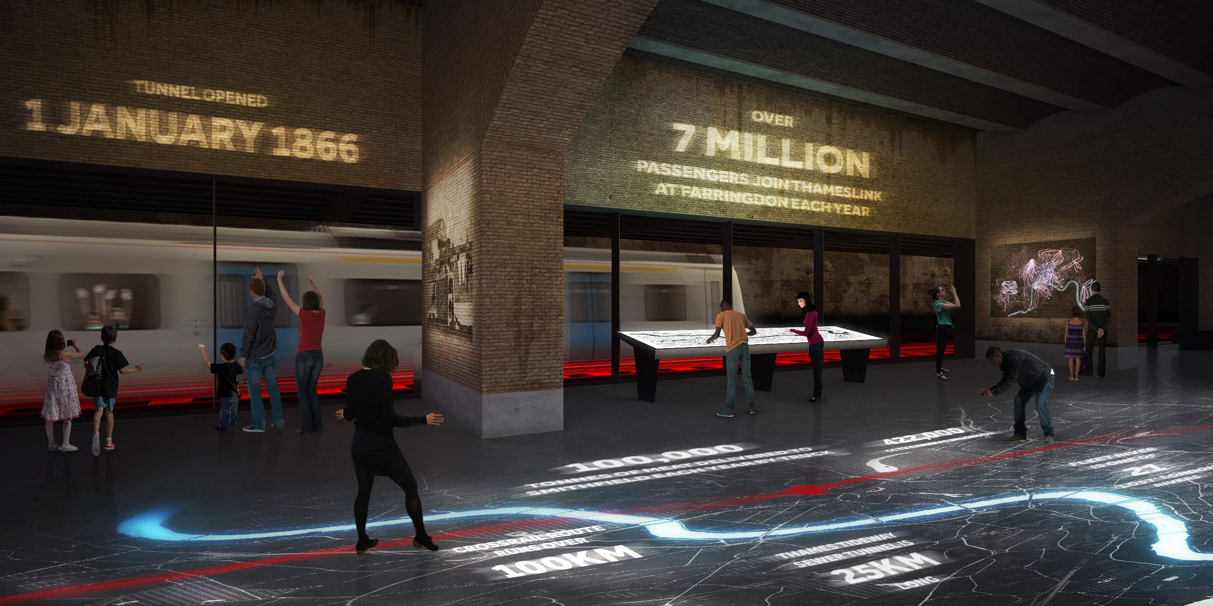 The Museum of London set to  have see-through train tunnel running through the exhibits