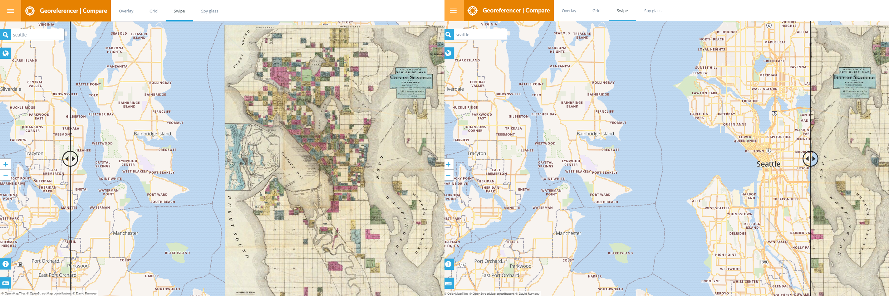 This online tool lets you compare historical maps to current data