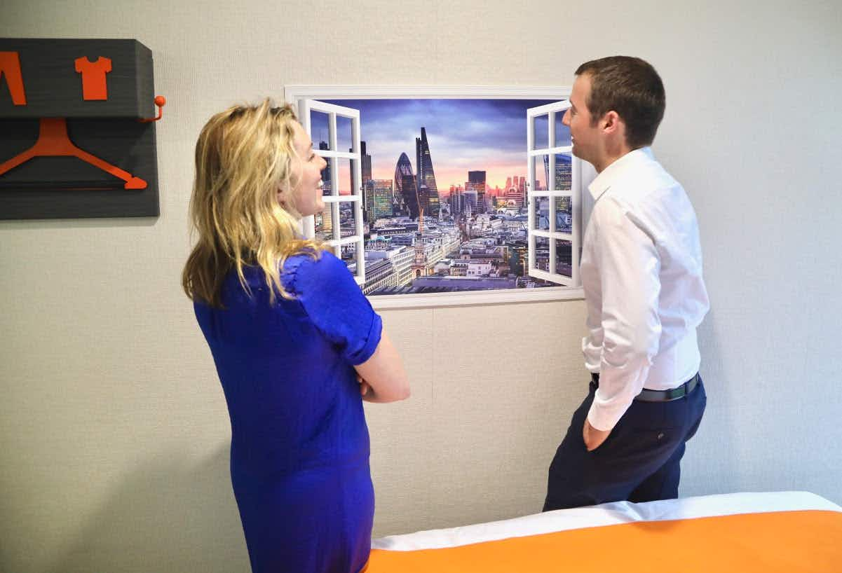 Why is this hotel showing guests fake views of London landmarks?