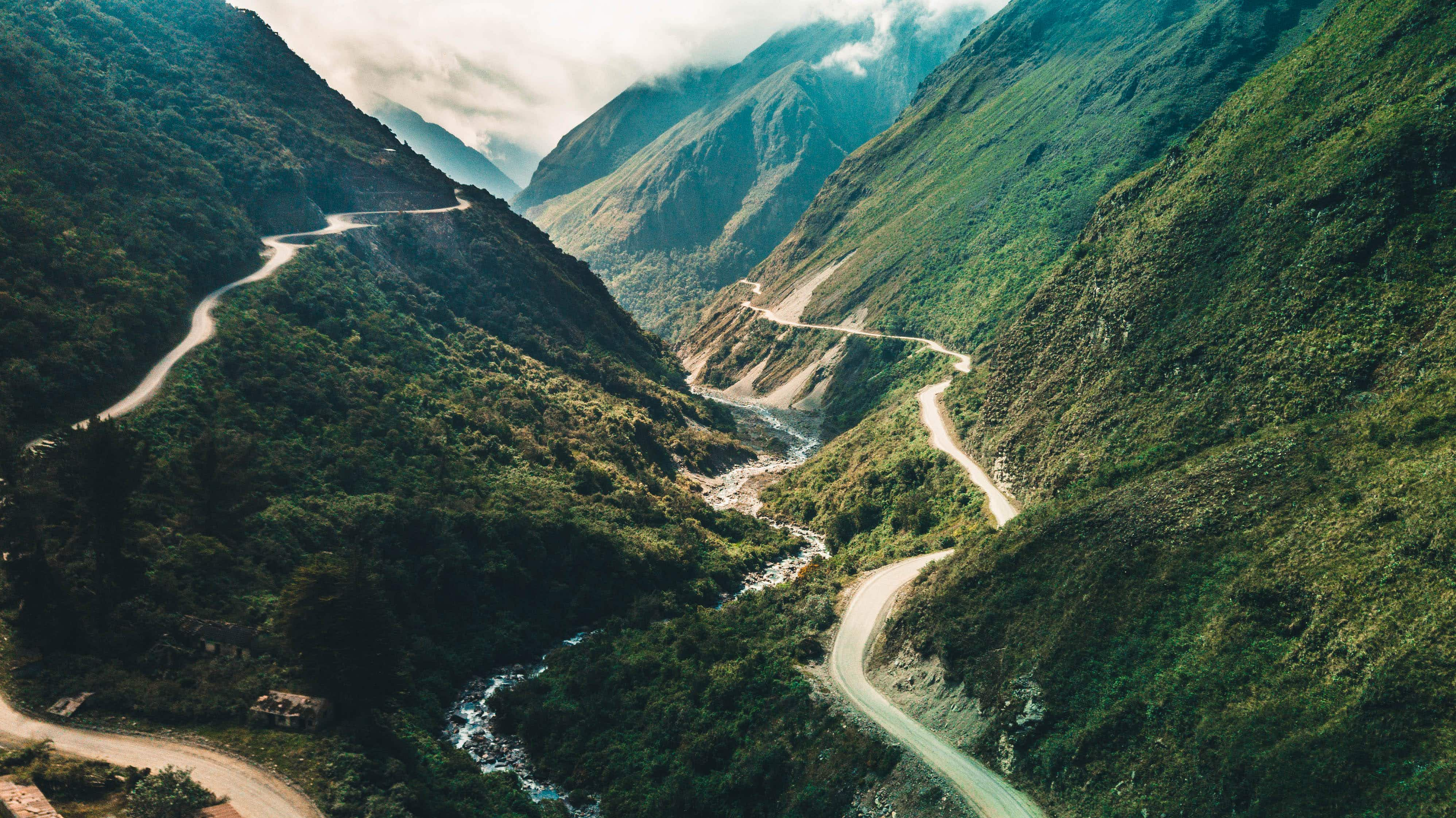 Terrifying but extremely thrilling: would you dare cycle along Bolivia's famous Death Road?