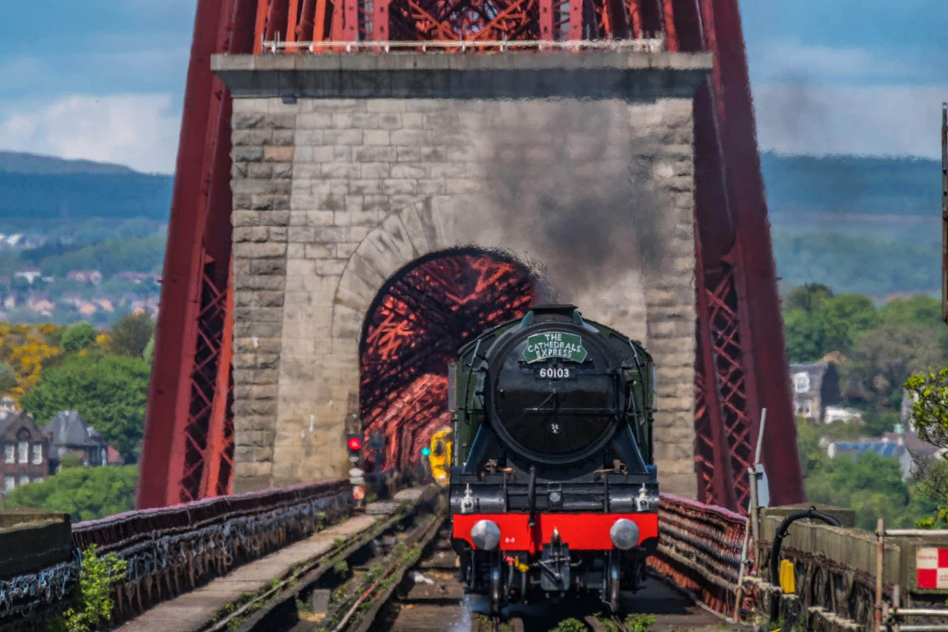 You'll be able to take a steam train over the Forth Rail Bridge in Scotland this summer