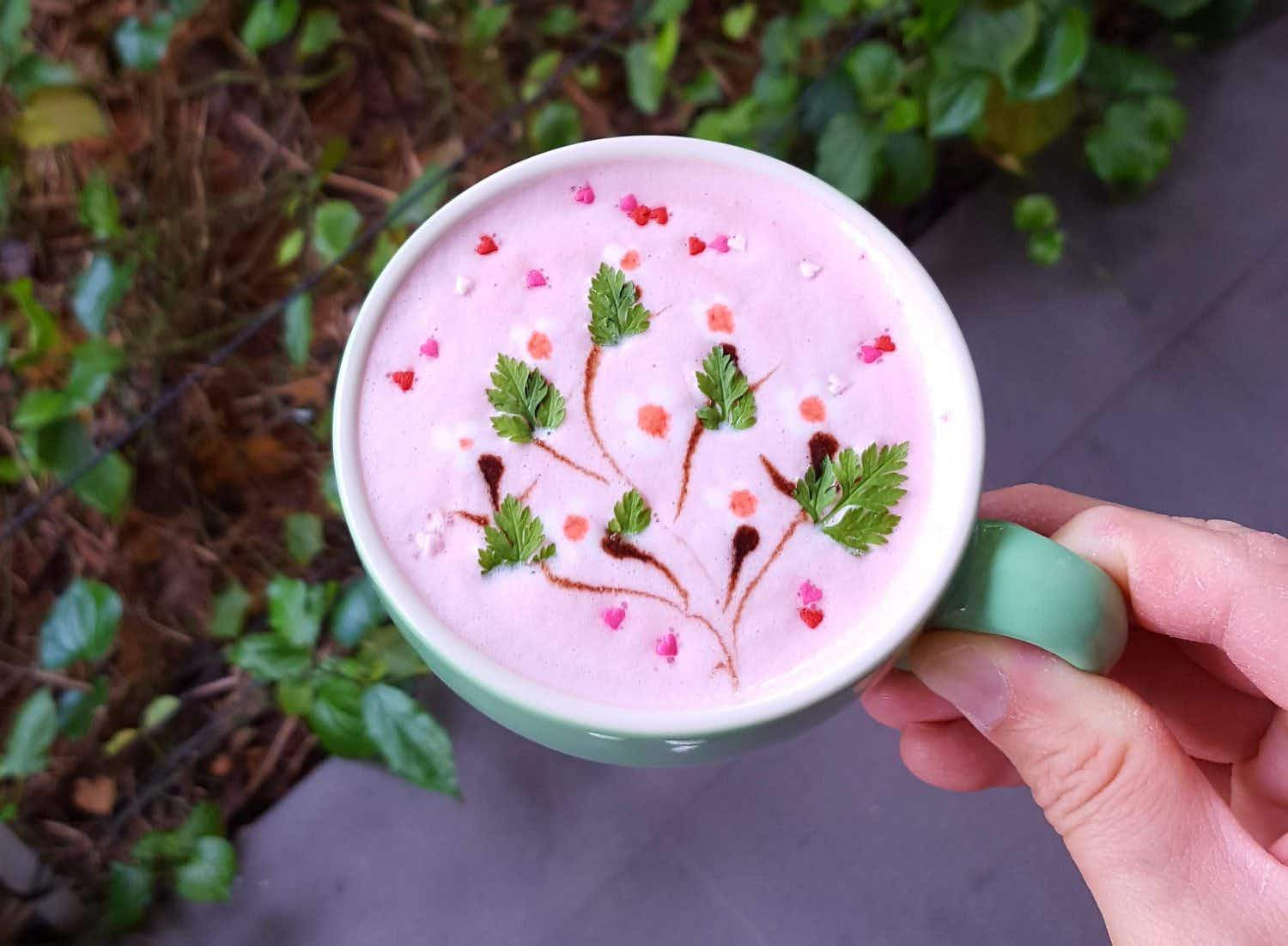 This Singapore coffee shop's floral lattes are just begging to be Instagrammed