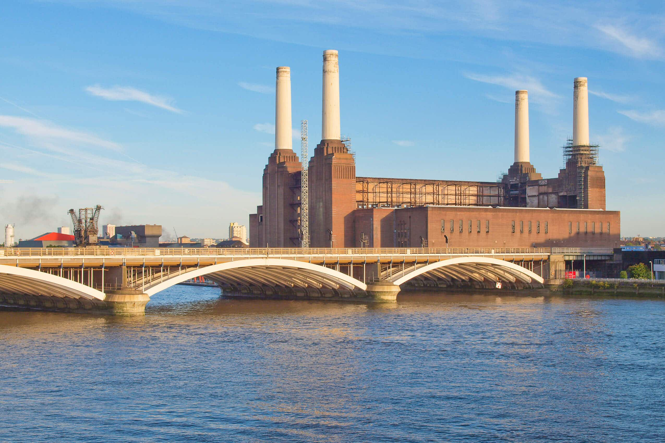 London's Battersea Power Station's iconic chimneys are set to be restored