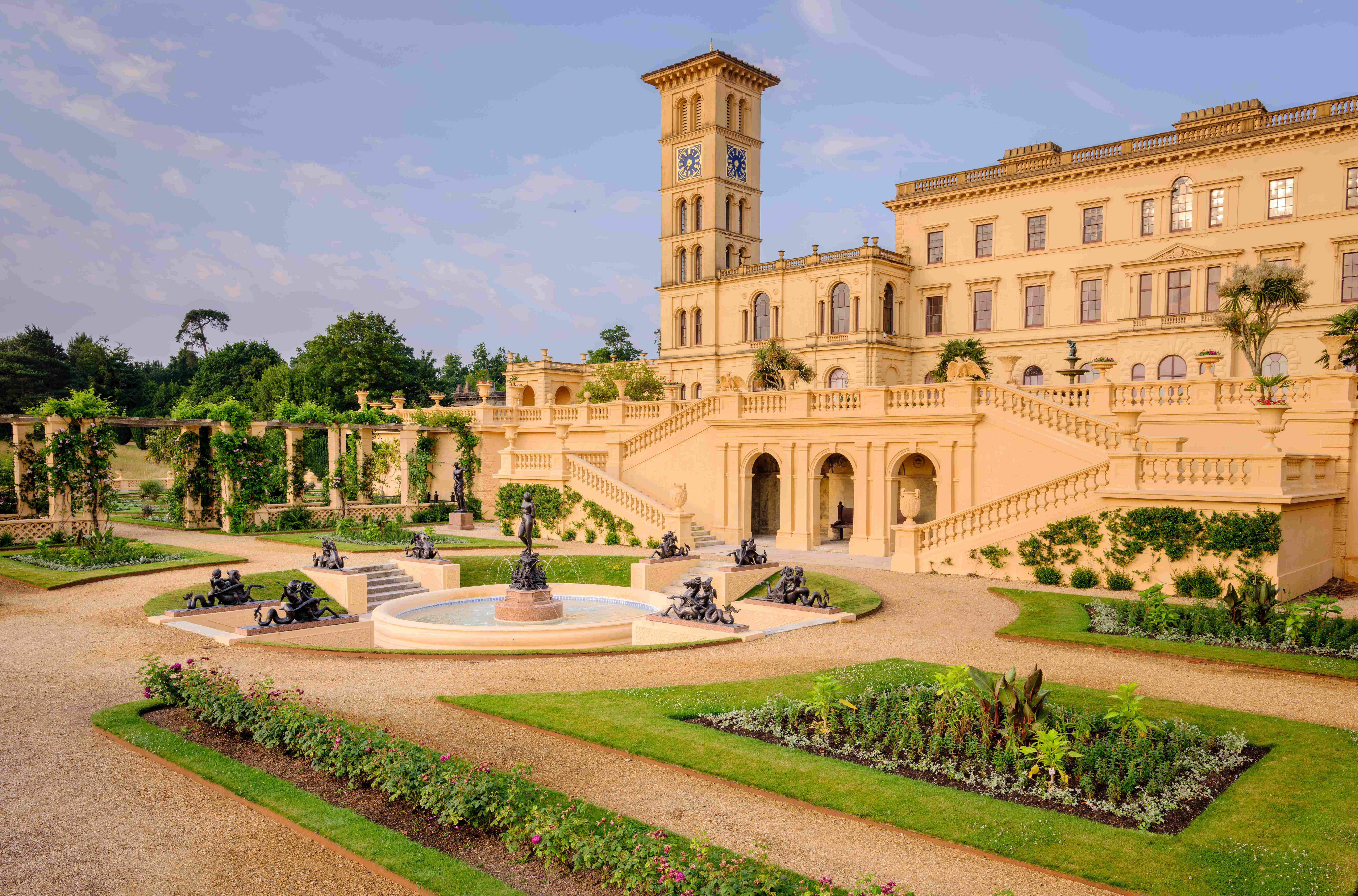 Queen Victoria's private garden terrace on the Isle of Wight opens to the public
