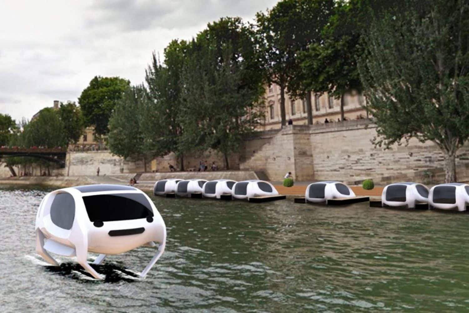 Watch: travel just got a lot more futuristic as flying water taxis are tested on the River Seine in Paris