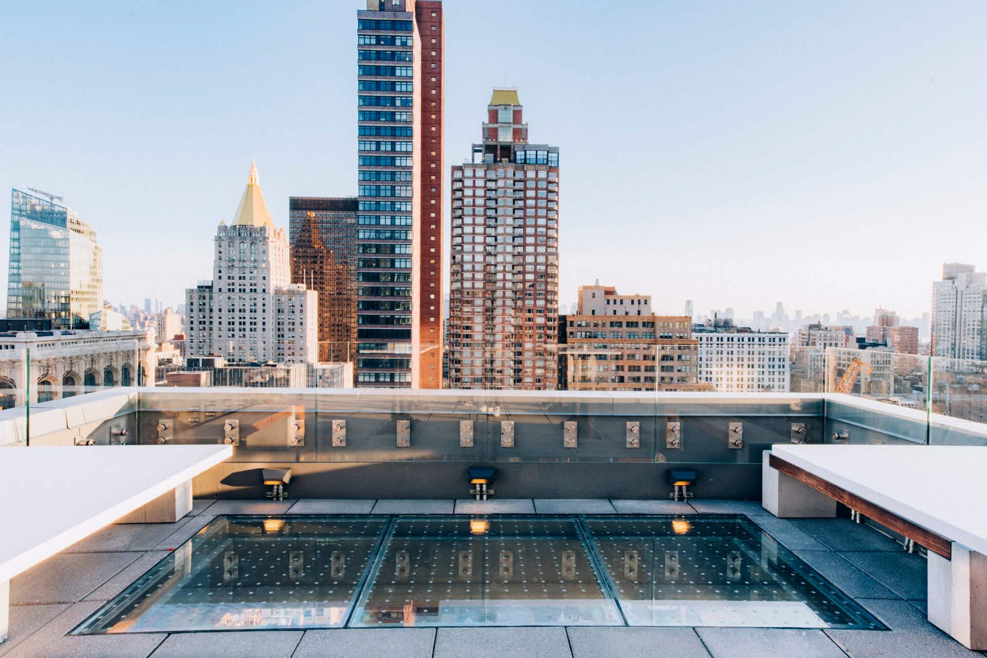 Don't look down – this newly opened NYC rooftop bar has a glass-bottomed floor