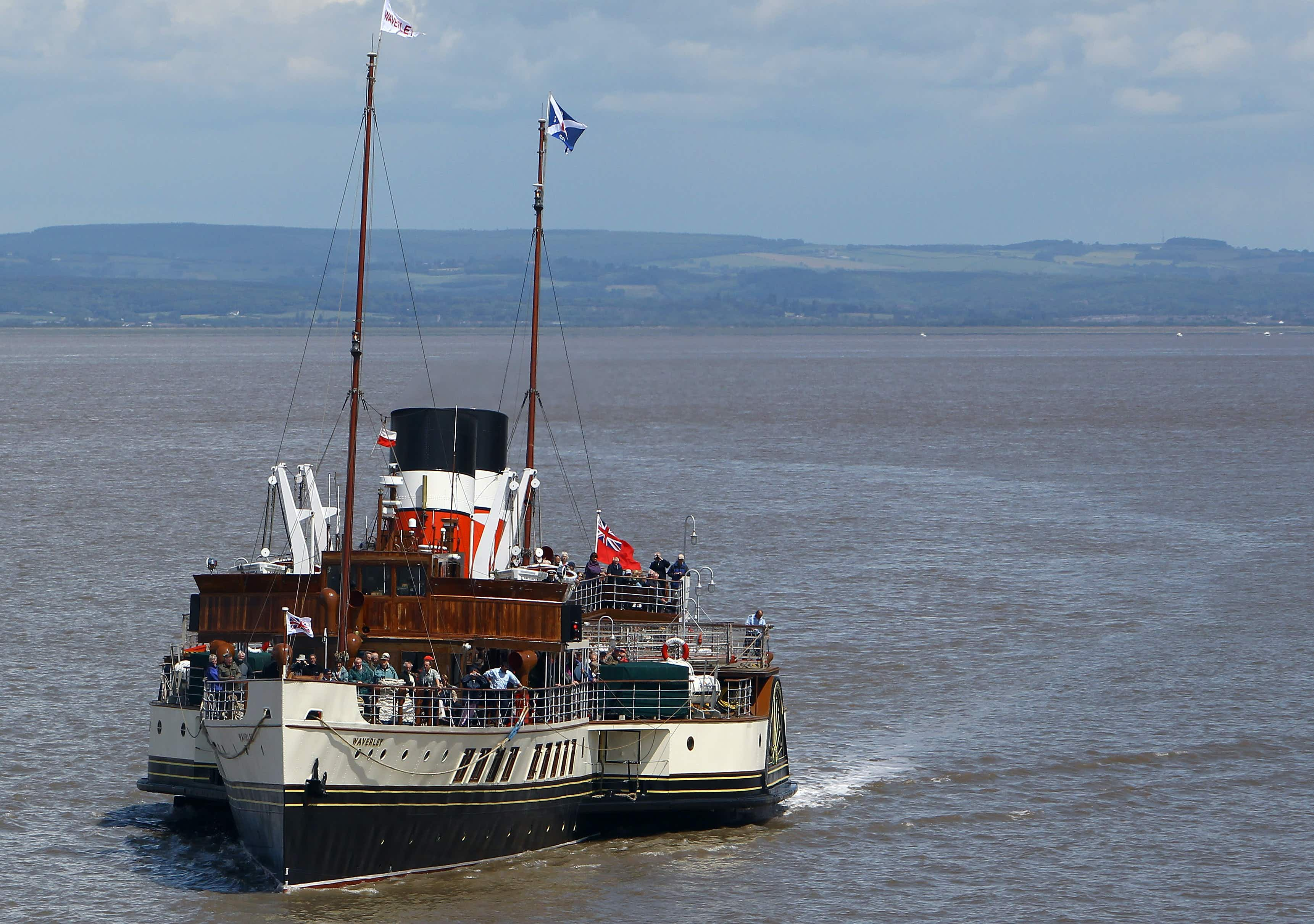 The world's last sea-going paddle steamer celebrates 70th anniversary recreating maiden voyage