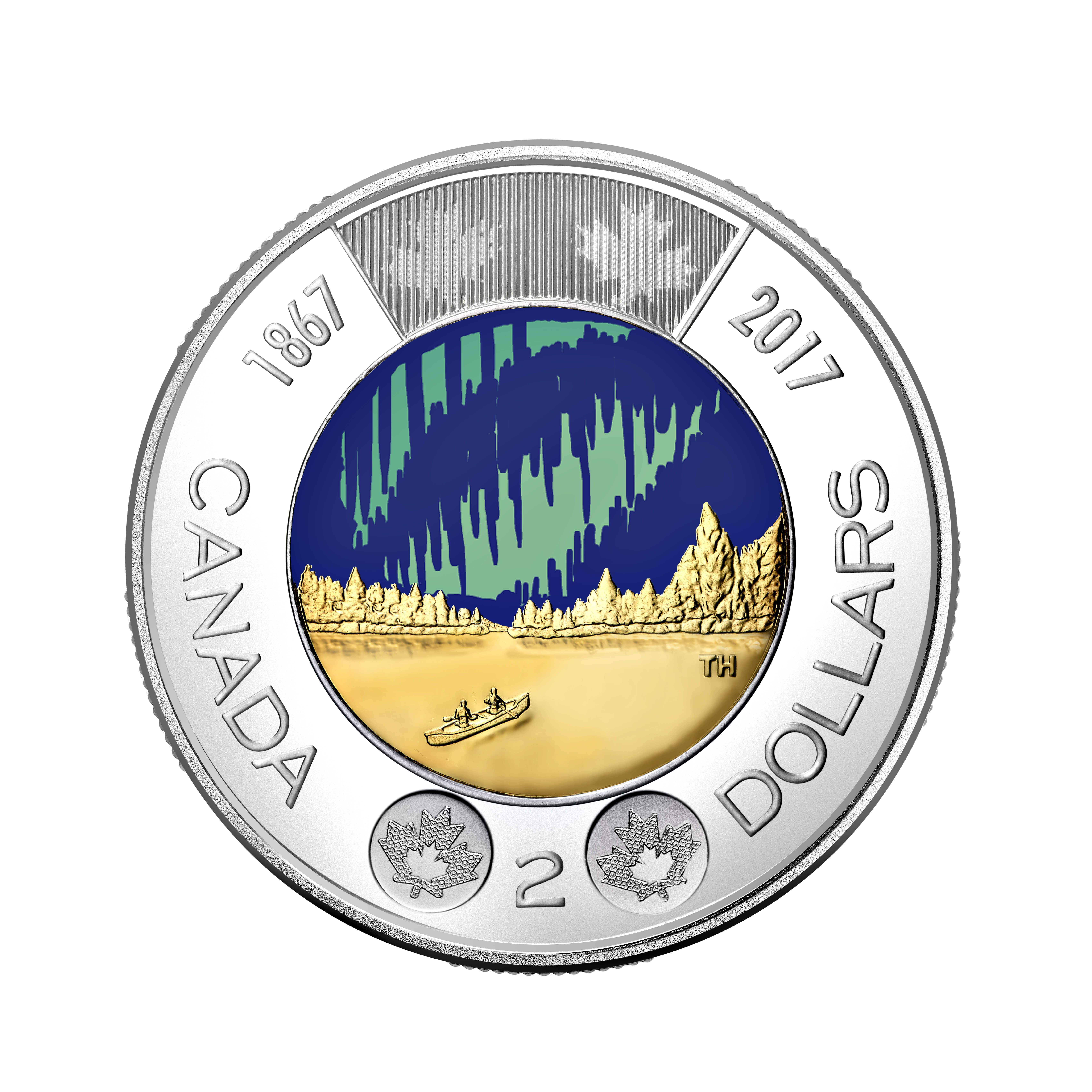 Check out Canada's new 'toonie', the first glow-in-the-dark coin in circulation