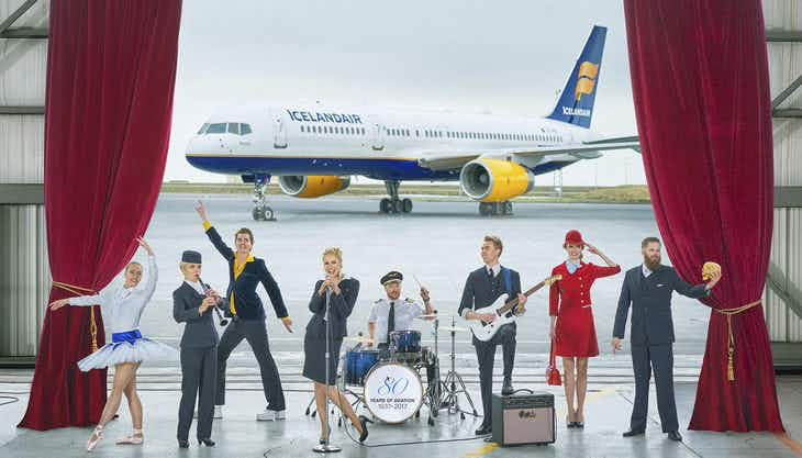 That's inflight service! Icelandair flight crew set to perform a three-act play in the sky
