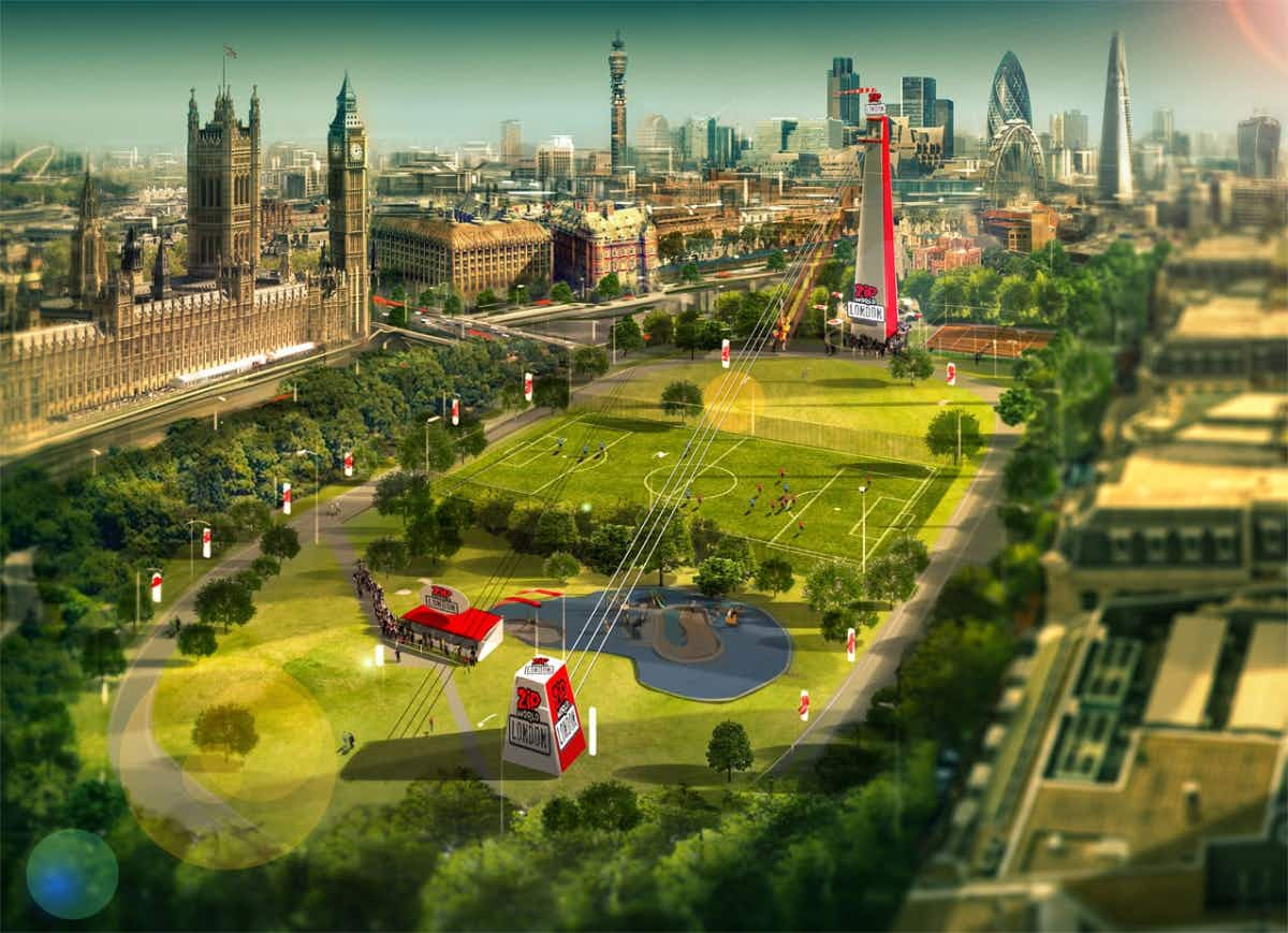 A new London zip line will be the fastest in any major world city
