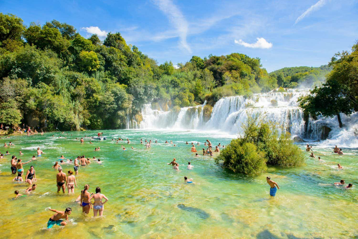 Croatia's Krka National Park waterfall limits visitor numbers to prevent overcrowding