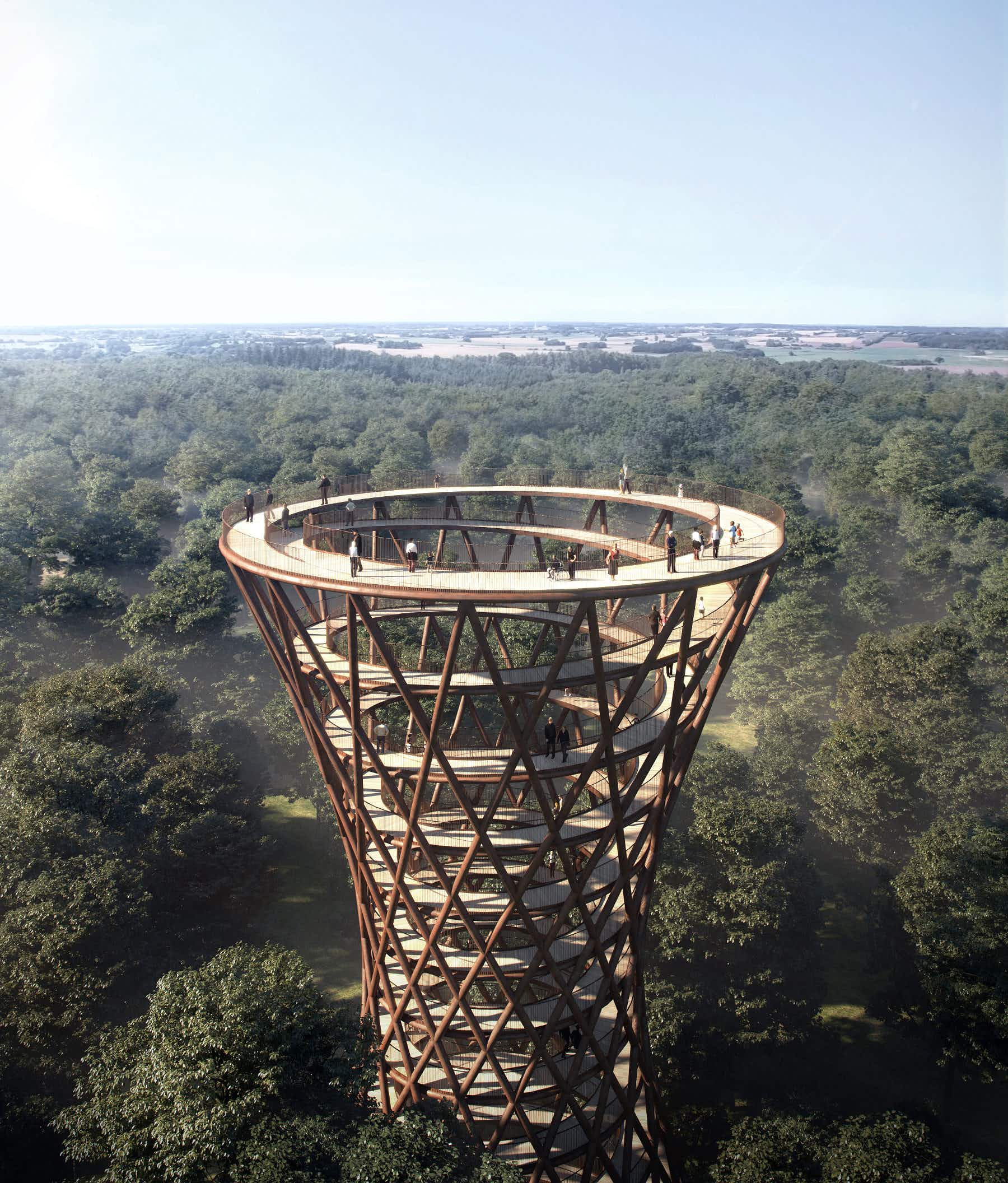 Walk above the trees in Denmark as plans unveiled for an incredible spiral treetop walkway