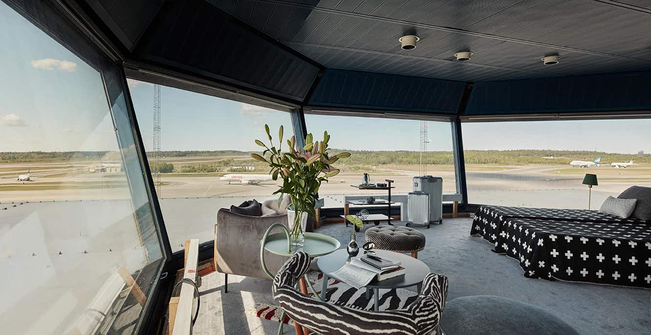 Sleepover at the airport? Spend a night in a converted ramp tower at this Swedish airport