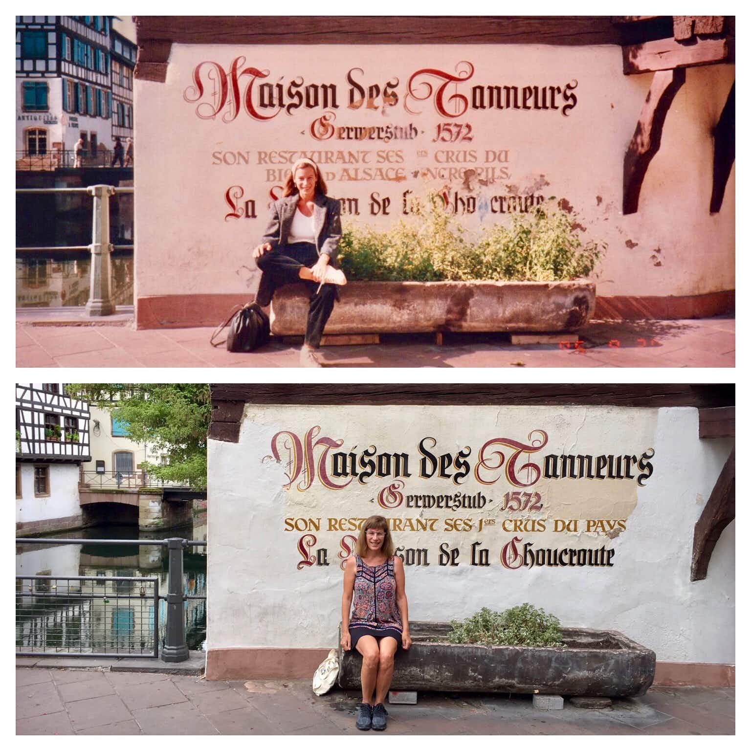 One woman perfectly recreated her European travel photos 30 years later