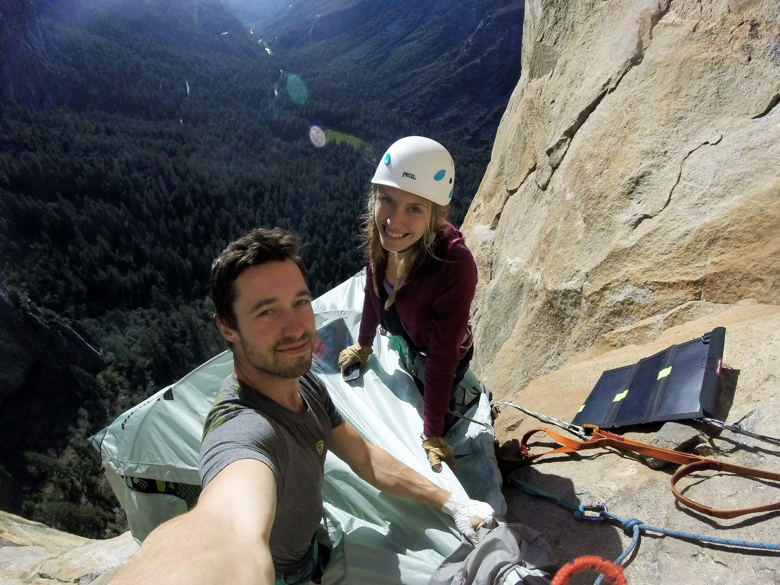 YouTuber and his girlfriend on how they conquered the biggest overhanging wall in North America