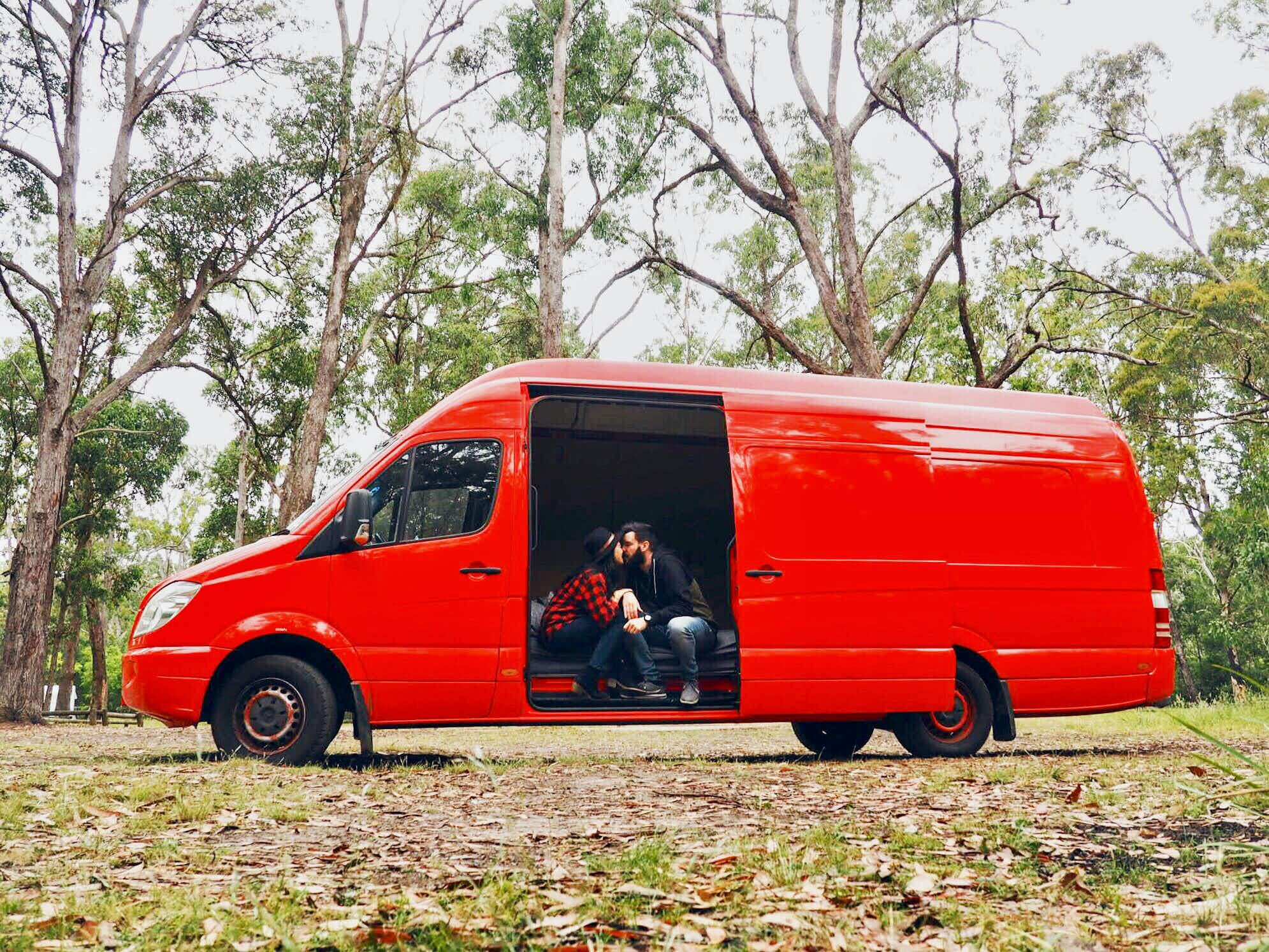 How this couple are pursuing their dream of life on the road, with the help of an old postal van