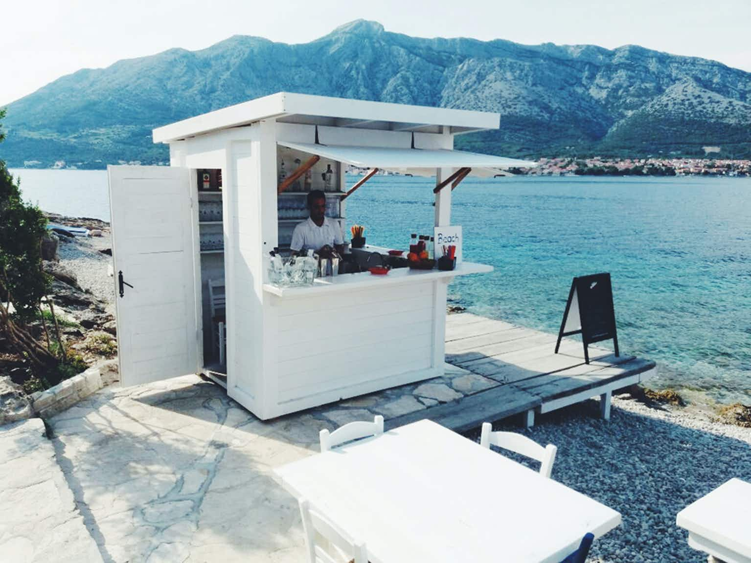Who wouldn't want to be at this beach bar on a small island off the Croatian coast right now?