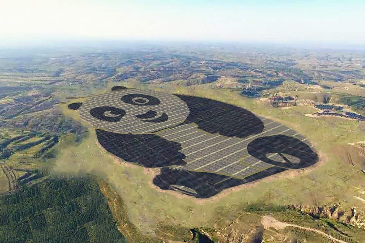 Is this Chinese panda-shaped solar farm the most adorable power plant in the world?
