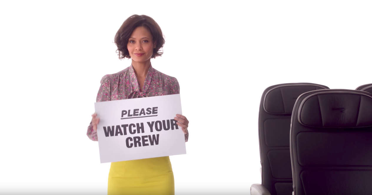 A host of UK stars of stage and screen feature in British Airways' brilliantly funny new safety video
