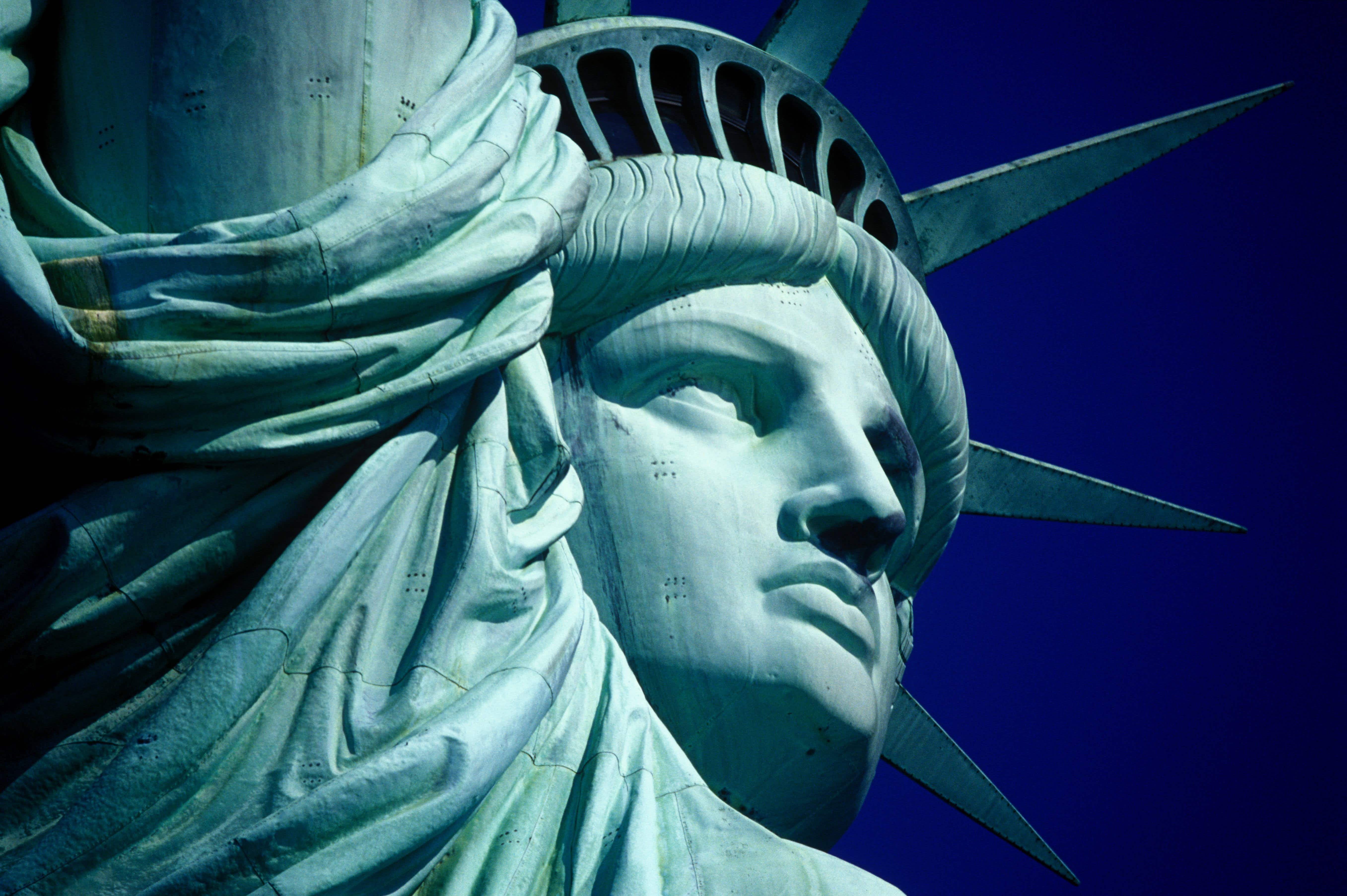 Research shows that the iconic  green Statue of Liberty was actually once red in color