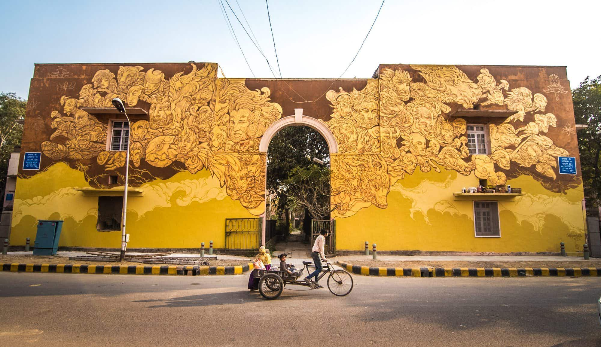 See the fantastic colours Brazilian artists have brought to India's first open-air art district