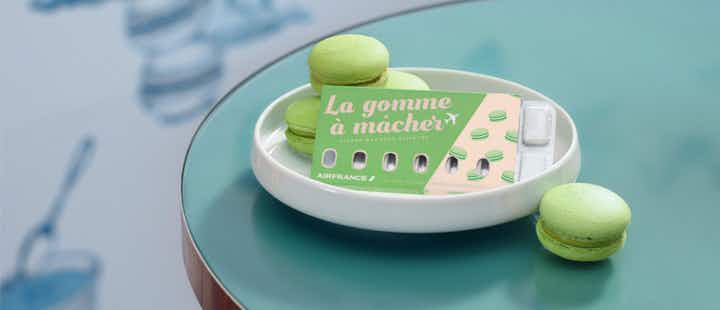 Air France creates macaroon and crème brûlée-flavoured chewing gum to help with popping ears on flights