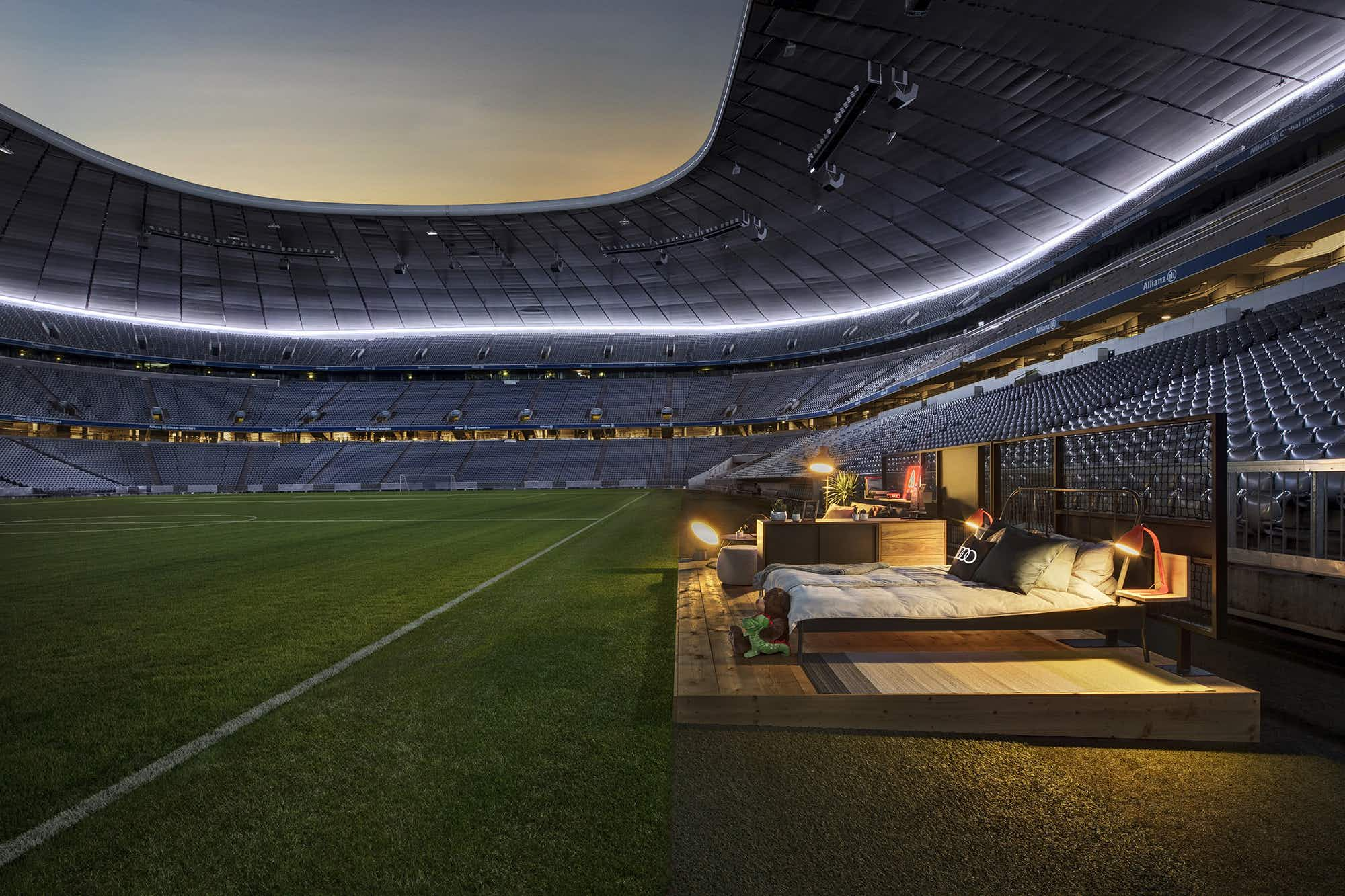 You can stay in one of Europe's most famous football stadiums during the Audi Cup