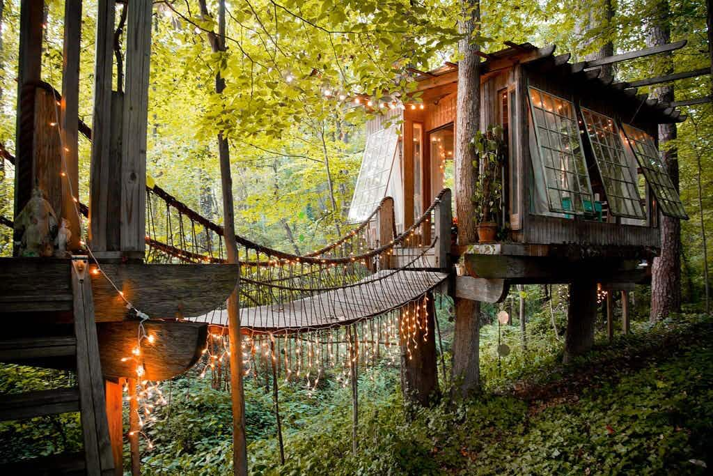 A gorgeous treehouse tops the list of Airbnb's most desired properties