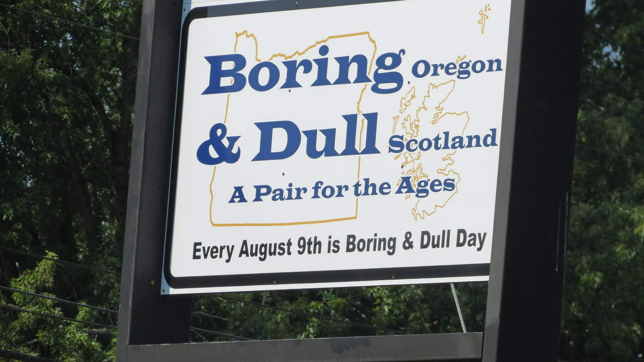 The towns of Dull, Bland and Boring are celebrating their extraordinary ordinariness this week