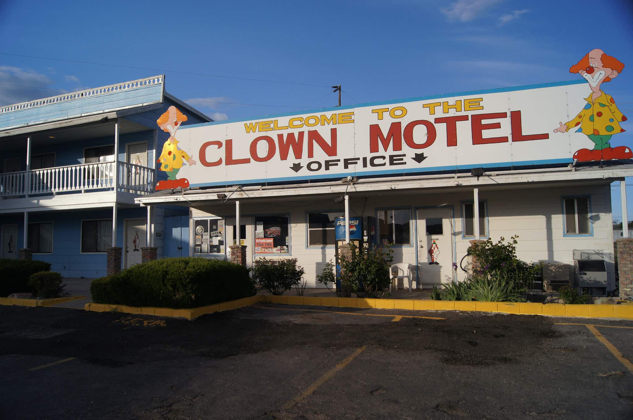 You can now buy this terrifying clown motel that's on sale in Nevada