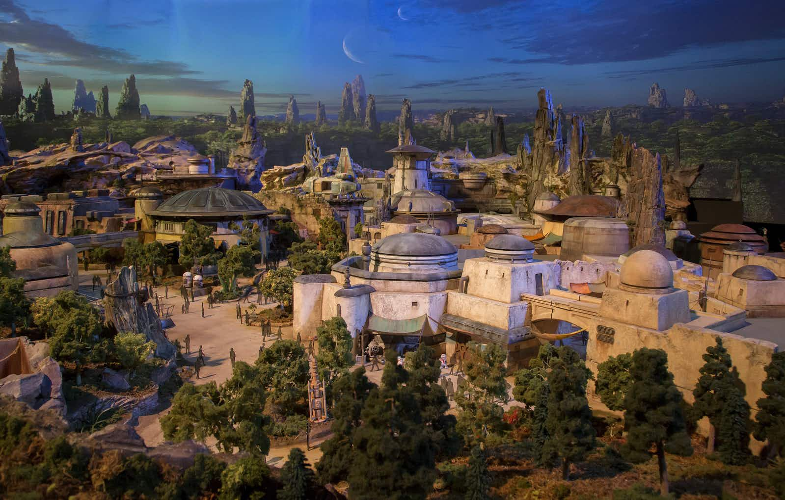 See the world of Star Wars take shape at Disneyland in new drone footage