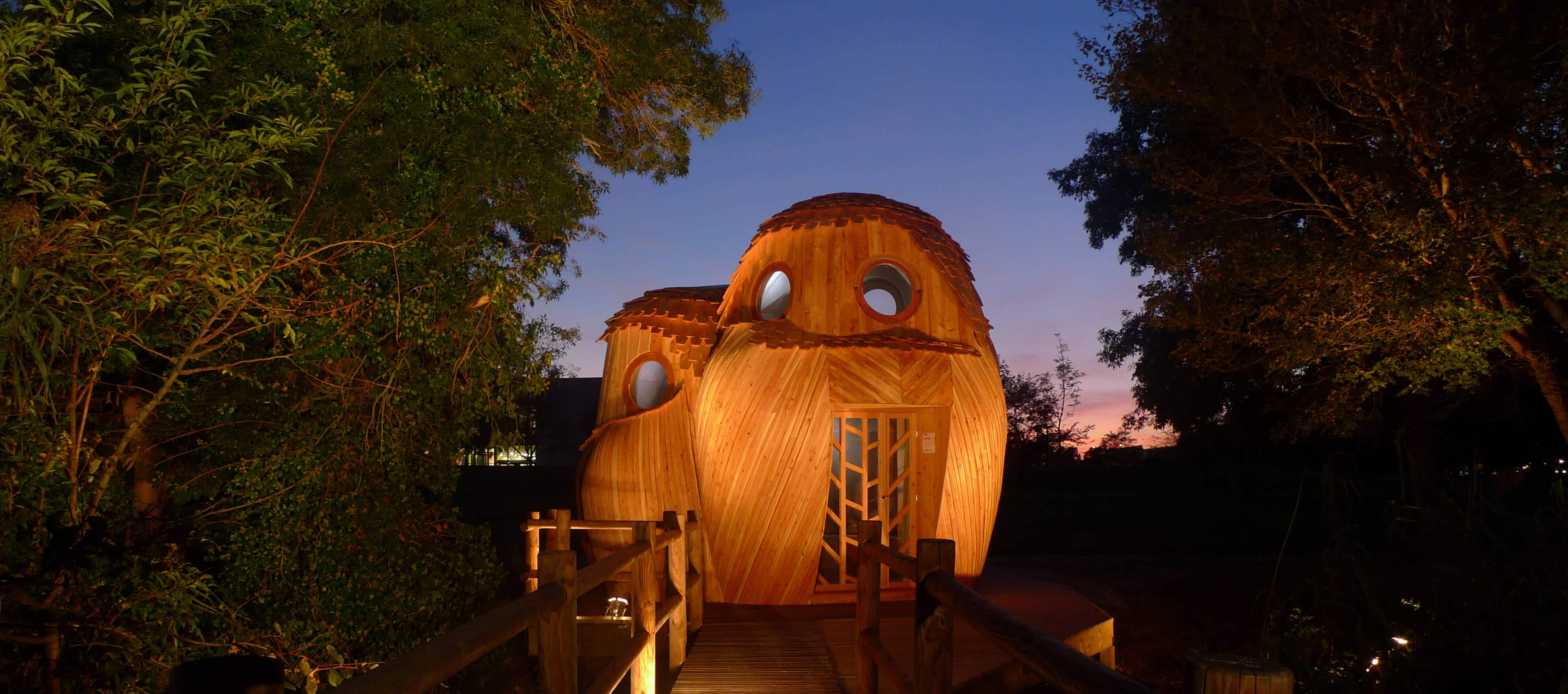 On a budget? You can stay in these amazing owl cabins in Bordeaux for free