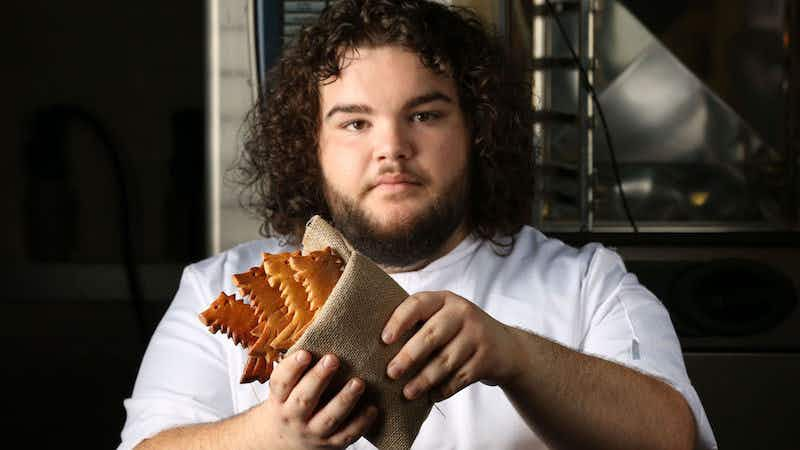 The actor who plays Hot Pie on Game of Thrones has opened a real-life bakery