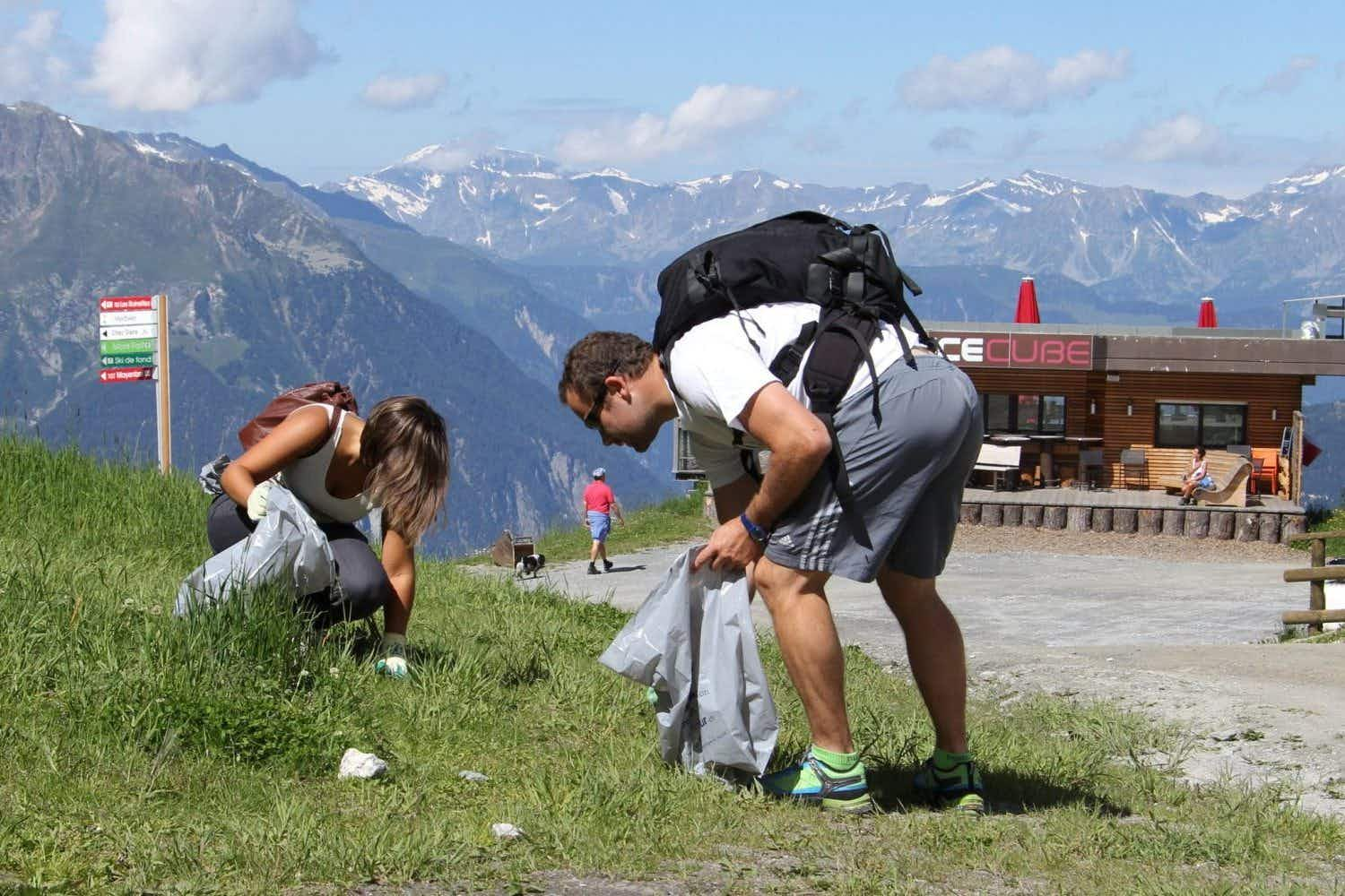 If you fancy helping to clean up the Swiss Alps by picking up litter, this hiking trip could be for you