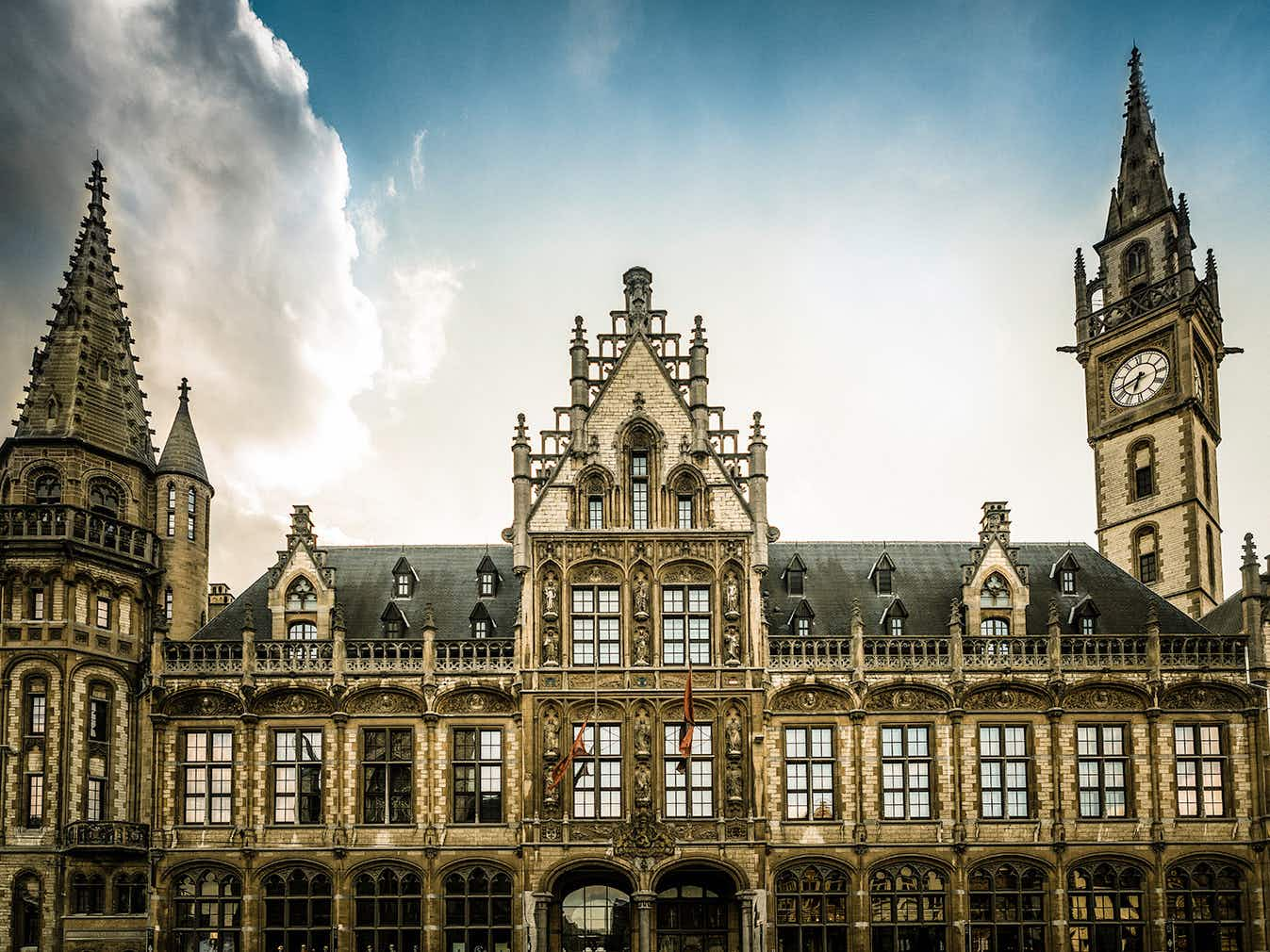 A neo-Gothic post office in Flanders has become an amazing hotel