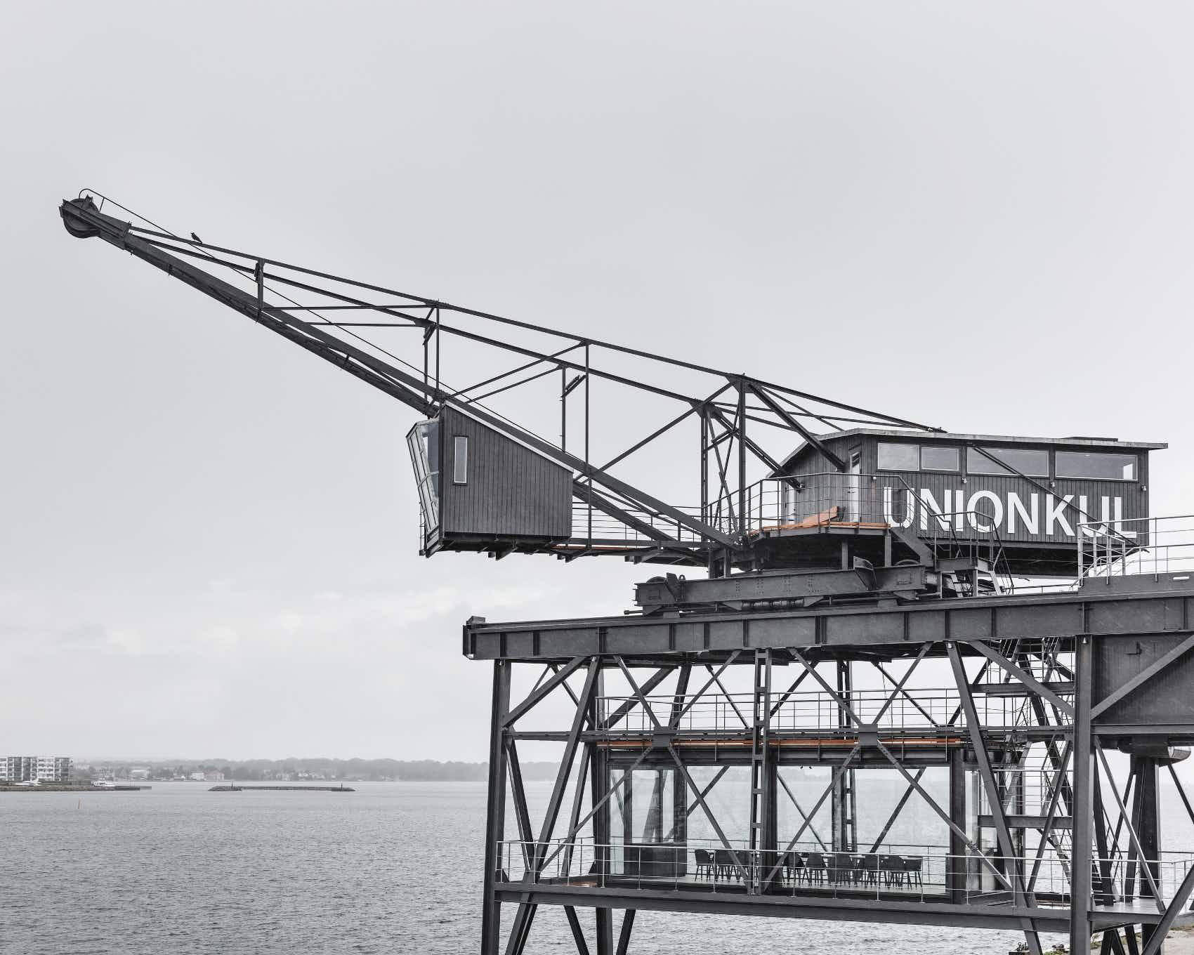 A luxury retreat has opened in a coal crane suspended over the Copenhagen docks
