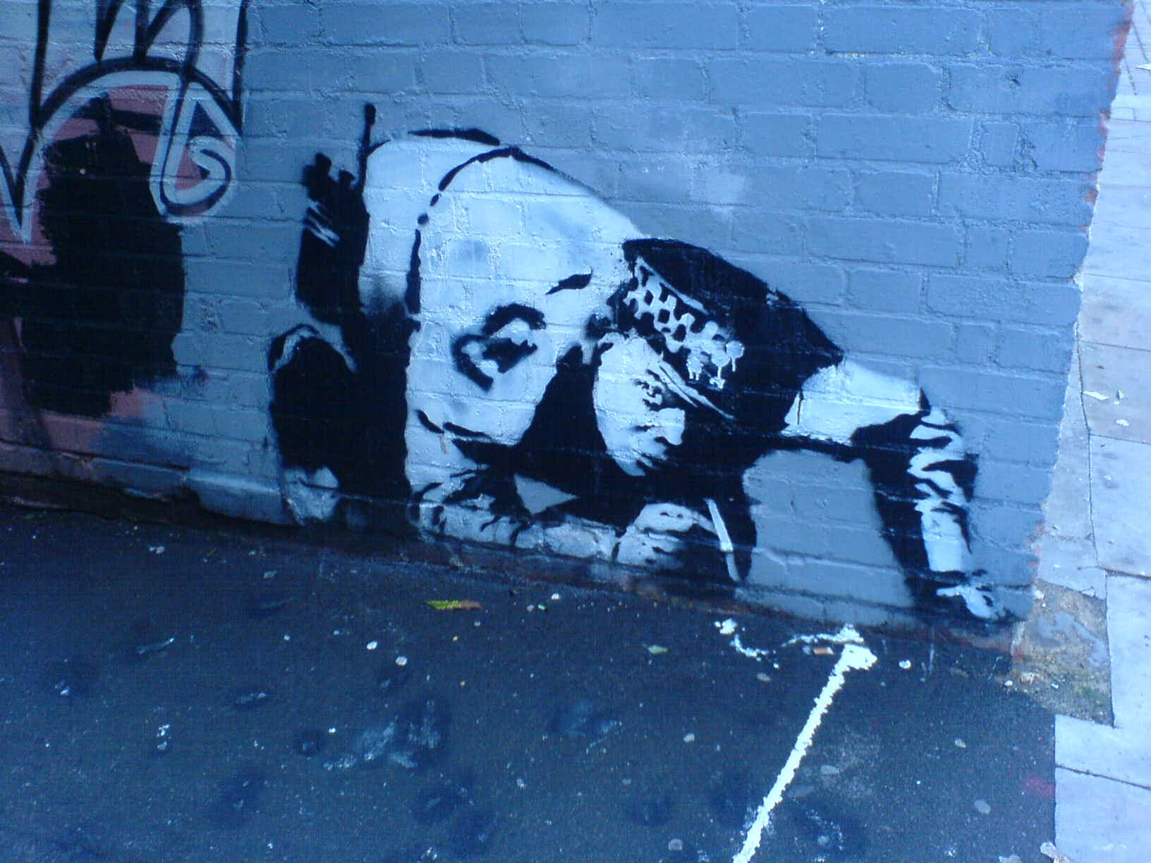 A painted-over Banksy artwork has been discovered and restored to go on display in London